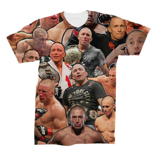 Georges St-Pierre Photo Collage T-Shirt