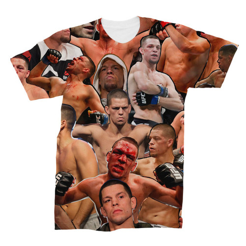 Nate Diaz Photo Collage T-Shirt