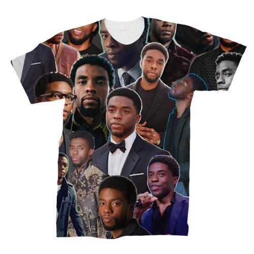 Chadwick Boseman Photo Collage T-Shirt