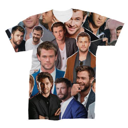 Chris Hemsworth Photo Collage T-Shirt
