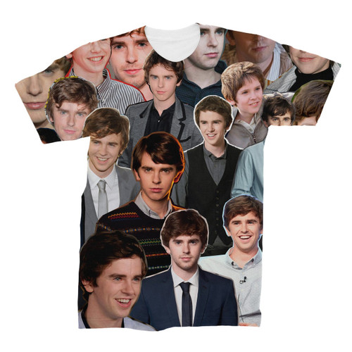 Freddie Highmore Photo Collage T-Shirt