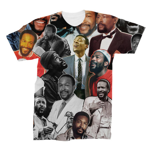 Marvin Gaye Photo Collage T-Shirt