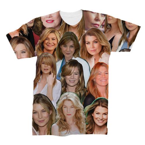 Ellen Pompeo Photo Collage T-Shirt