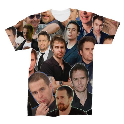 Sam Rockwell Photo Collage T-Shirt