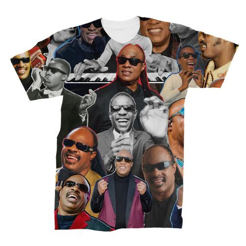 Stevie Wonder Photo Collage T-Shirt
