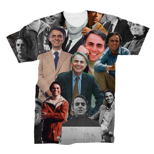 Carl Sagan Photo Collage T-Shirt