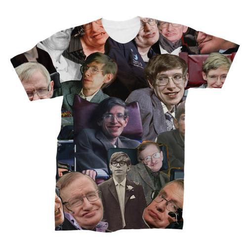 Stephen Hawking Photo Collage T-Shirt