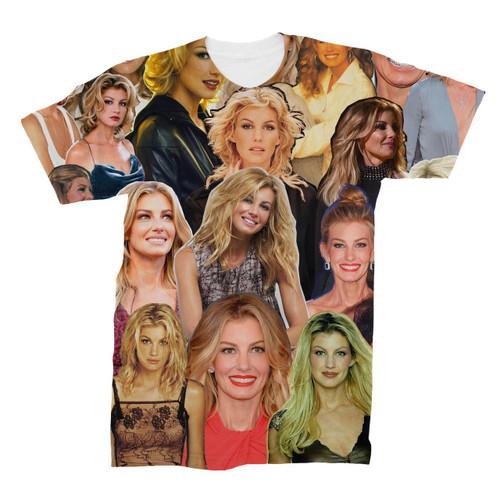 Faith Hill Photo Collage T-Shirt