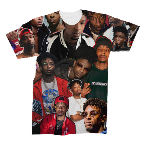 21 Savage Photo Collage T-Shirt