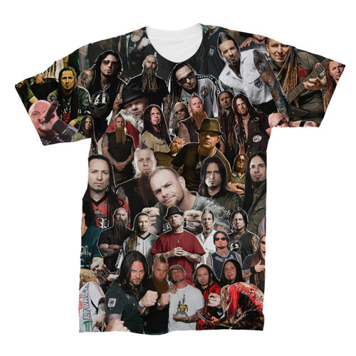 Five Finger Death Punch Photo Collage T-Shirt