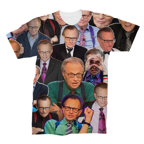 Larry King Photo Collage T-Shirt
