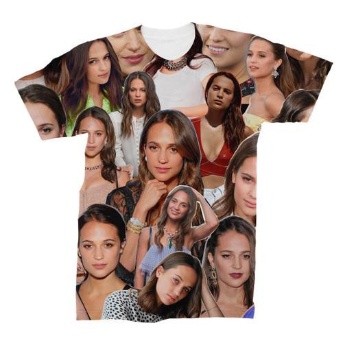 Alicia Vikander Photo Collage T-Shirt