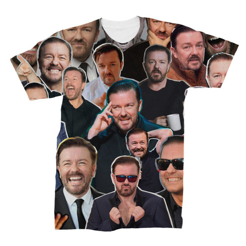 Ricky Gervais Photo Collage T-Shirt