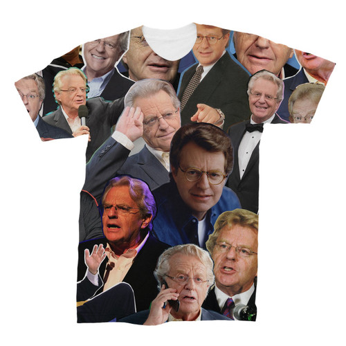 Jerry Springer Photo Collage T-Shirt