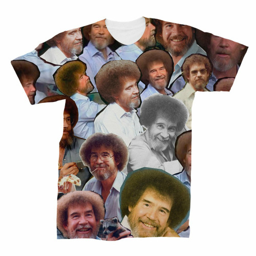 Bob Ross Photo Collage T-Shirt