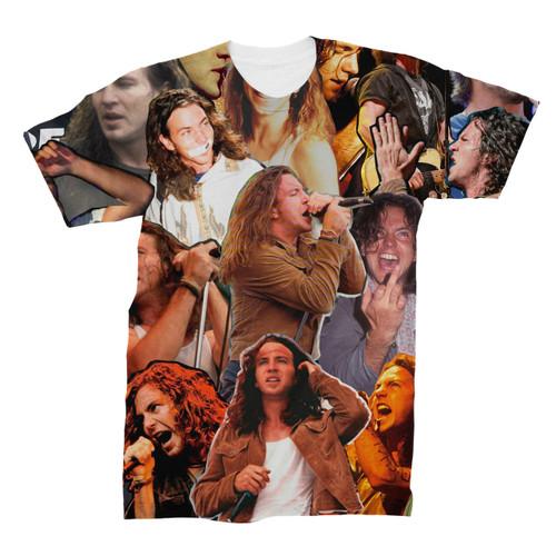 Eddie Vedder Photo Collage T-Shirt