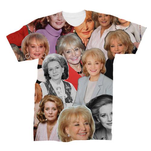 Barbara Walters Photo Collage T-Shirt