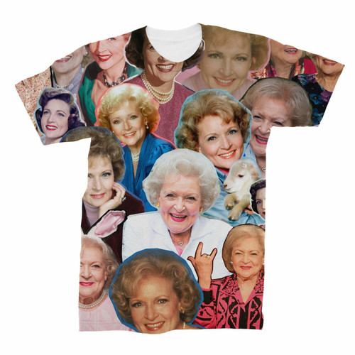 Betty White Photo Collage T-Shirt