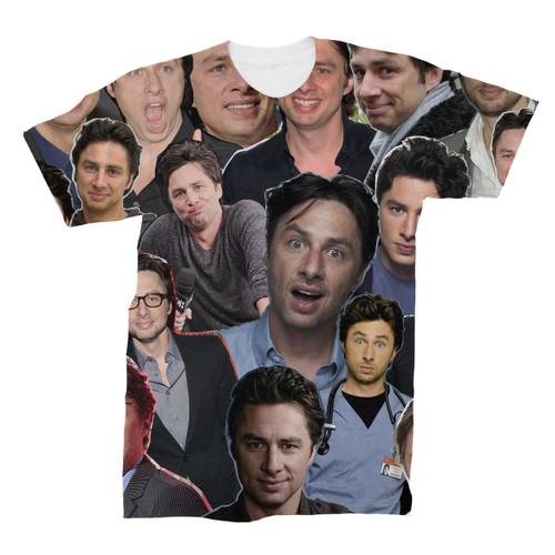 Zach Braff Photo Collage T-Shirt