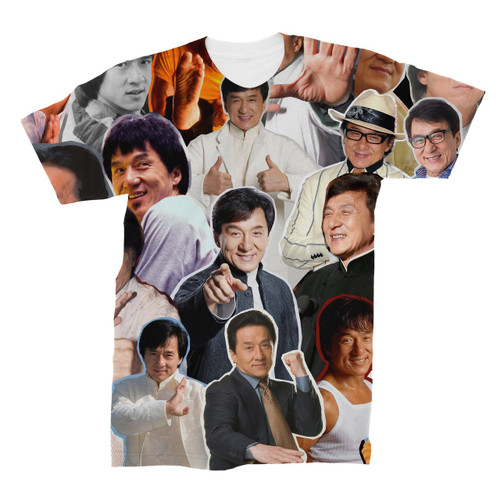 Jackie Chan Photo Collage T-Shirt