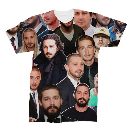 Shia LaBeouf Photo Collage T-Shirt