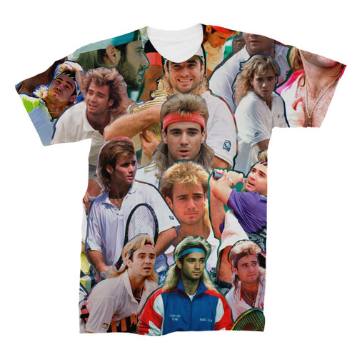 Andre Agassi Photo Collage T-Shirt
