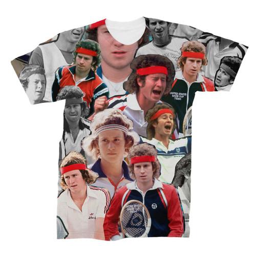 John McEnroe Photo Collage T-Shirt