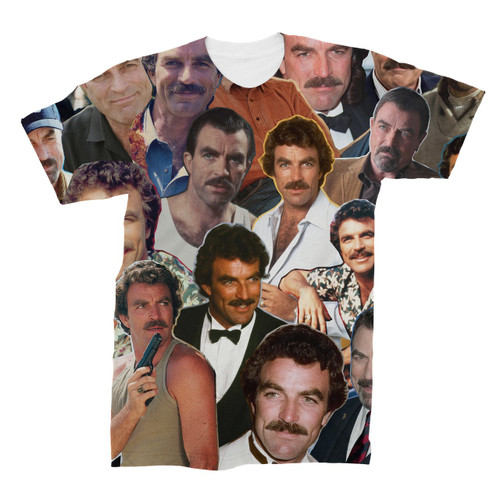 Tom Selleck Photo Collage T-Shirt
