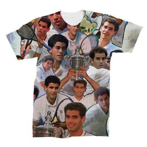 Pete Sampras Photo Collage T-Shirt