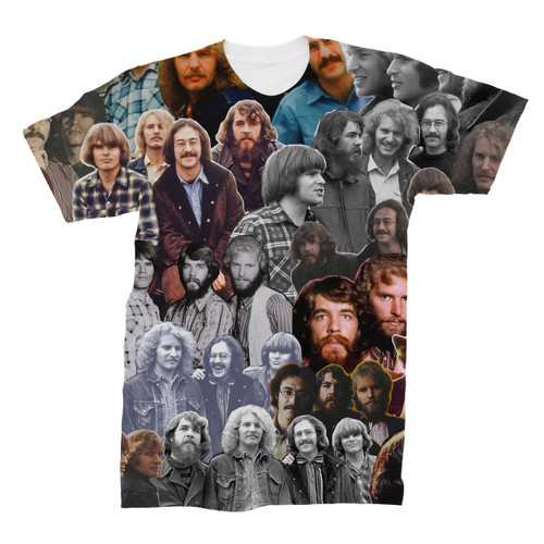 Creedence Clearwater Revival Photo Collage T-Shirt