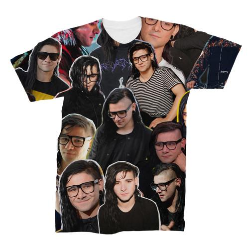 Skrillex Photo Collage T-Shirt