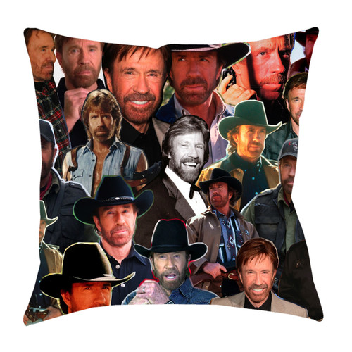 Chuck Norris Photo Collage Pillowcase