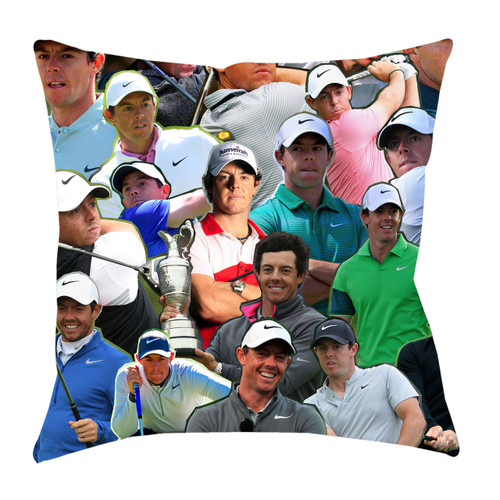 Rory McIlroy Photo Collage Pillowcase