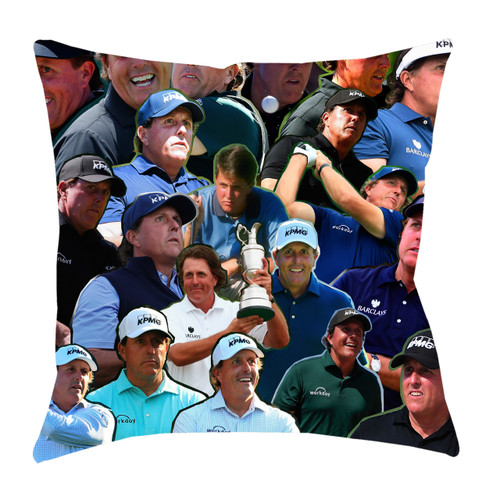 Phil Mickelson Photo Collage Pillowcase