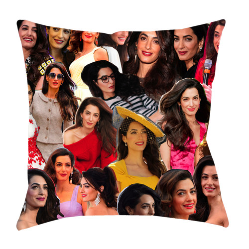 Amal Clooney Photo Collage Pillowcase