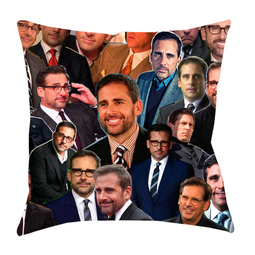 Steve Carell Photo Collage Pillowcase