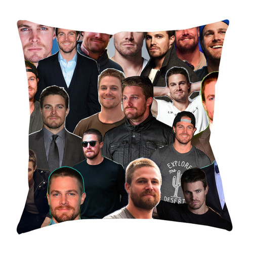 Stephen Amell Photo Collage Pillowcase