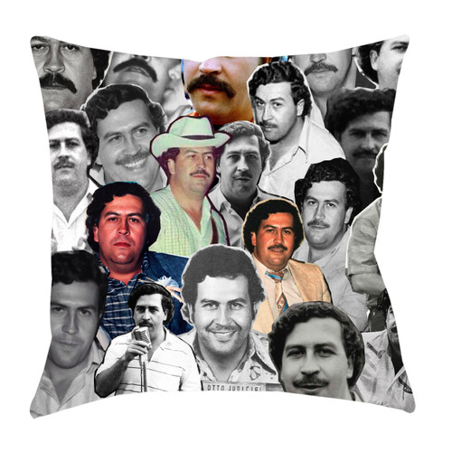 Pablo Escobar Photo Collage Pillowcase