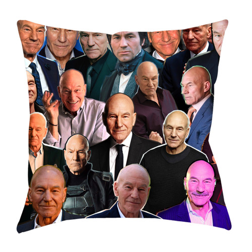 Patrick Stewart Photo Collage Pillowcase