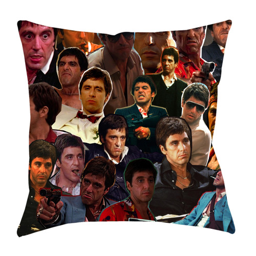 Tony Montana Photo Collage Pillowcase