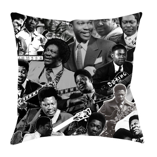 B.B. King Photo Collage Pillowcase