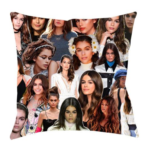 Kaia Gerber Photo Collage Pillowcase