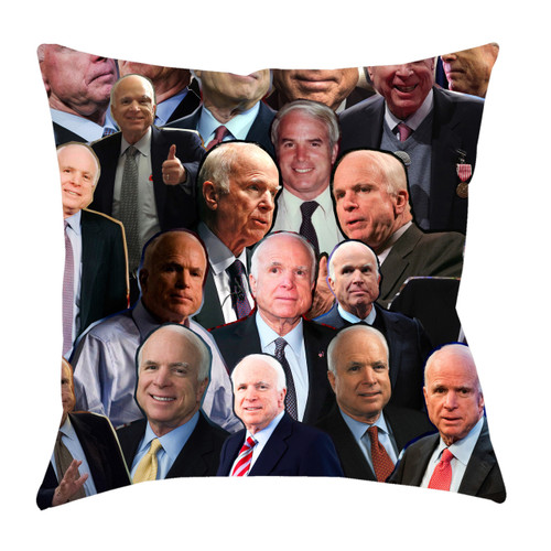John McCain Photo Collage Pillowcase