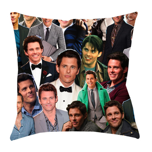 James Marsden Photo Collage Pillowcase