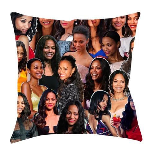 Zoe Saldana Photo Collage Pillowcase