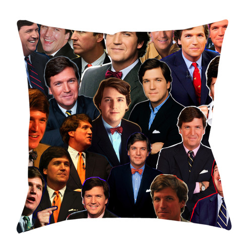 Tucker Carlson Photo Collage Pillowcase