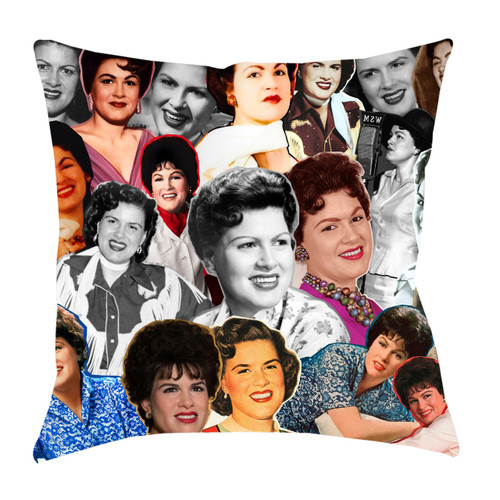 Patsy Cline Photo Collage Pillowcase