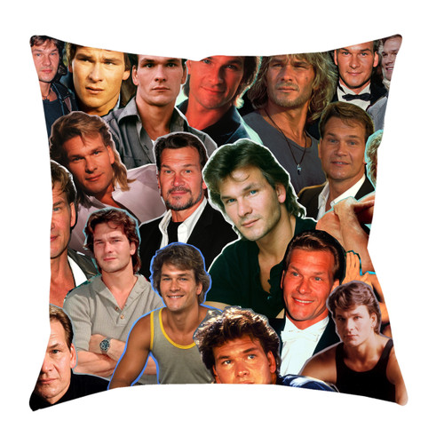 Patrick Swayze Photo Collage Pillowcase