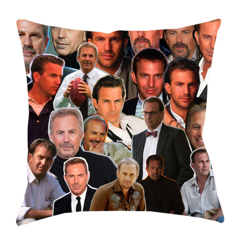 Kevin Costner Photo Collage Pillowcase