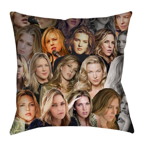 Diana Krall Photo Collage Pillowcase